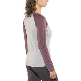 Meru Katrineholm - Camiseta de manga larga Mujer - gris/violeta